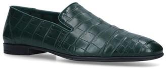 Brotini Crocodile Leather Slippers