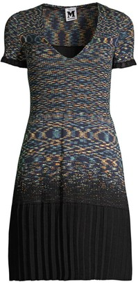 M Missoni Knit Short-Sleeve Dress
