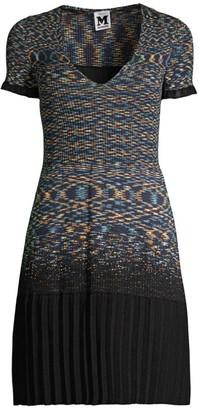 M Missoni Knit Short-Sleeve Dress