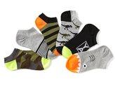 Class Club Boys 6-Pack No-Show Dinosaur Theme Comfort Socks