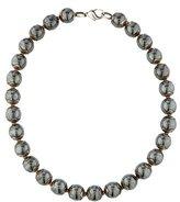 Movado Hematite Bead Necklace