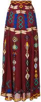 Michel Klein embroidered skirt