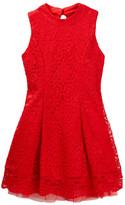 My Michelle mymichelle Lace Mock Neck Dress (Big Girls)