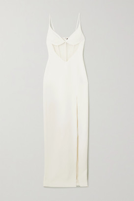 David Koma Grosgrain-trimmed Tulle And Cady Gown - White