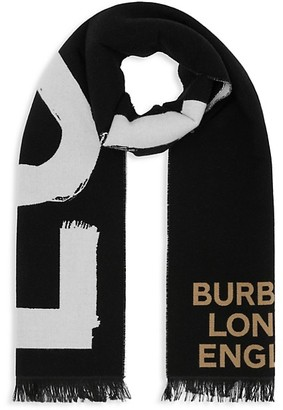 Burberry Reversible Two-Tone Love Football Scarf