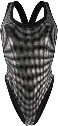 Philipp Plein Crystal Embellished Swimsuit
