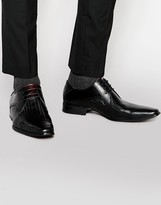 Front Leather Brogues In Black