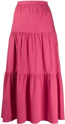RED Valentino High-Waisted Poplin Skirt