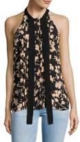 Michael Kors Blossom Halter Silk Top