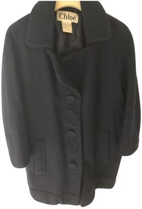 Chloé Navy Wool Coat for Women Vintage