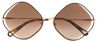 Chloé Eyewear Poppy diamond-frame sunglasses