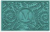 "Bed Bath & Beyond Weather GuardTM Boxwood Monogrammed ""M"" 23-Inch x 35-Inch Door Mat"