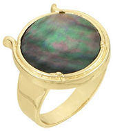 Laundry by Shelli Segal Mother-Of-Pearl Round Ring
