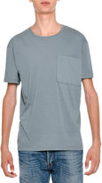 Valentino Rockstud Basic Crewneck Short-Sleeve T-Shirt, Light Blue