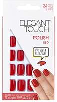 Elegant Touch Pre Polished Nails Red with Super Adhesive Tabs