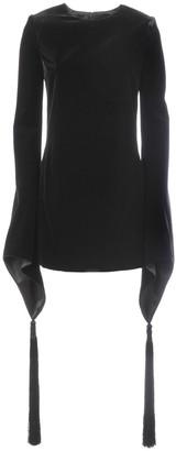 Saint Laurent Tassel-Detailed Velvet Mini Dress