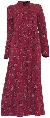 Hanout Boutique Delphine Cotton Dress Bordeau
