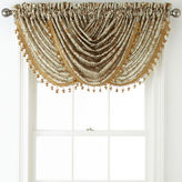 Royal Velvet Hilton Damask Waterfall Rod-Pocket Valance