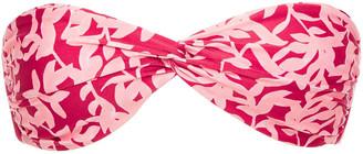 Vix Paula Hermanny Twisted Printed Bandeau Bikini Top