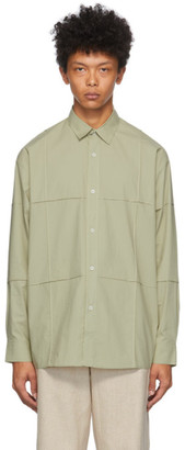 Jacquemus Green La Chemise Carro Shirt
