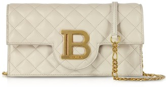 Balmain Quilted Leather B-smartphone Case W/chain Strap