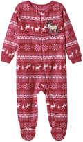 Joe Fresh Baby Boys' Fleece Sleeper, Red (Size 3-6)