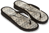 Monsoon Monochrome Wedge Seagrass Flip Flops