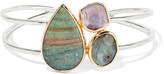 Melissa Joy Manning 14-karat Gold And Sterling Silver Multi-stone Cuff
