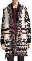 Etro Fringe Wool Cardigan Coat