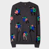 Paul Smith Men's Dark Grey 'Dancing Dice' Merino Wool Sweater