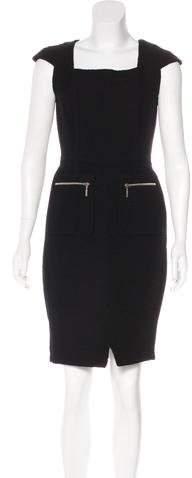 Oscar de la Renta Knee-Length Wool Dress