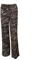 Calvin Klein Women's Print Drawstring Stretch Pants (PM, Black/Khaki)