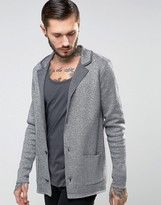 Asos Knitted Blazer With Metallic Yarn In Slim Fit