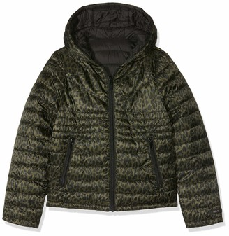 Ikks Junior Girl's Doudoune Light Reversible Leopard Raincoat