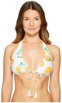 Kate Spade Capistrano Beach #57 Halter String Bikini Top w/ Removable Soft Cups Women's Swimwear