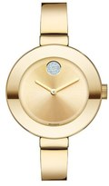 Movado 'Bold' Crystal Accent Bangle Watch, 34mm