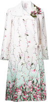 Antonio Marras floral printed coat - women - Cotton/Linen/Flax - 42