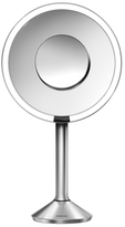 """Simplehuman 8"""" Round Sensor Mirror 5x/10x Magnification in Brushed Stainless Steel"""