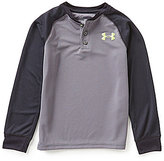 Under Armour Big Boys 8-20 Waffle Henley Tee
