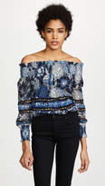 Fuzzi Off Shoulder Printed Top