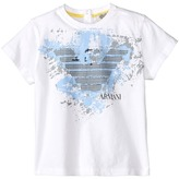 Armani Junior Graphic Tee w/ Paint Splatter Logo (Infant)