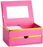 Jane Jewelry Storage, Small Box, Pink with Gold Trim