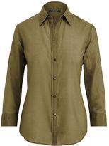 Ralph Lauren Cotton-Silk Button-Down Shirt