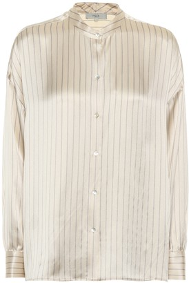 Vince Striped silk-satin blouse