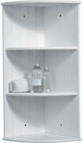 Living HOME Tongue and Groove Corner Shelves - White
