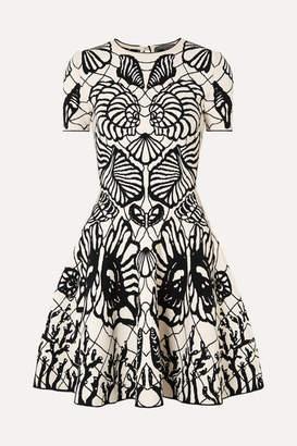 Alexander McQueen Jacquard-knit Mini Dress - Black
