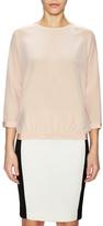 Tibi Silk Banded Easy Sweatshirt