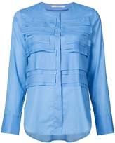 Lareida flapped front round neck shirt