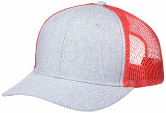 Marky G Apparel Heather Woven/Soft Mesh Trucker Cap