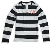 GUESS Rigby Striped Waffle Tee (4-16)